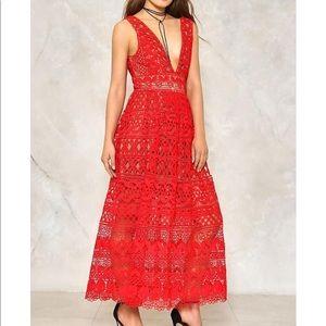 Isobel Red Crochet Dress